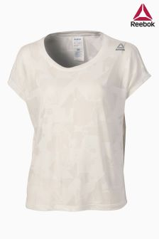 Reebok White Burnout Tee