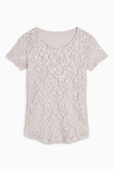 Lace Pearl T-Shirt