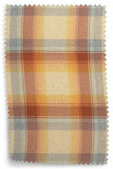 Brushed Check Ashworth Mandarin Fabric Roll