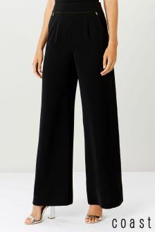 Coast Black Valancia Wide Leg Trouser