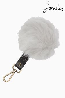 Joules Silver Keyring With Detachable Pom