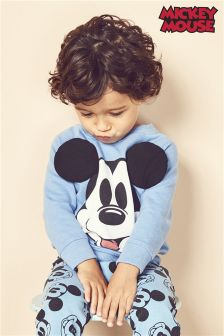 Long Sleeve Mickey™ Crew With 3D Ears (3mths-6yrs)