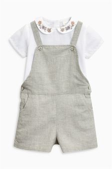 Playsuit And Blouse (3mths-6yrs)