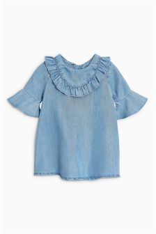 Frill Neck Dress (0mths-2yrs)