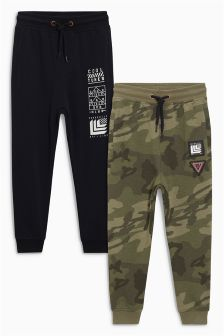 Tapered Leg Drop Crotch Joggers Two Pack (3-16yrs)