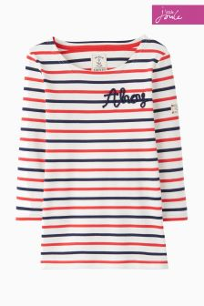 Joules Multi Stripe Printed Top