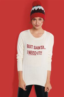 'But Santa' Jumper
