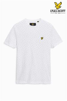 Lyle & Scott White Dot Print T-Shirt