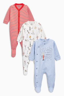 Circus Sleepsuits Three Pack (0mths-2yrs)