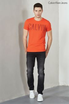 Calvin Klein Orange Tyrus Slim Fit T-Shirt