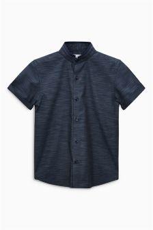 Short Sleeve Slub Fin Collar Shirt (3-16yrs)