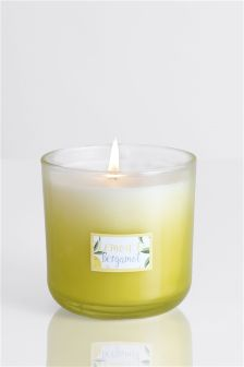 Lemon And Bergamot Ombre Candle