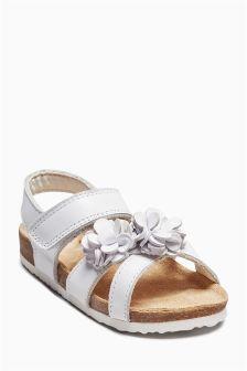 Flower Corkbed Sandals (Younger Girls)