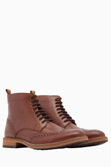 Joules Tan Lace-Up Boot