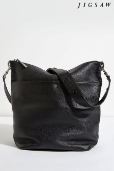 Jigsaw Black Cameron Hobo Bag