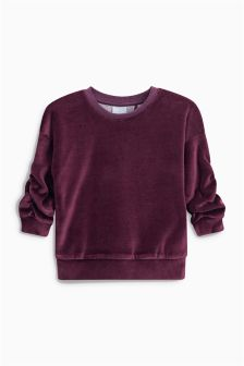 Velour Crew Neck Top (3mths-6yrs)