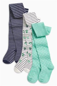 Cactus Stripe Tights Three Pack (0mths-6yrs)
