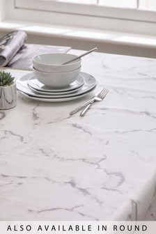 Marble Wipe Clean PVC Tablecloth