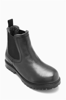 Warm Lined Chelsea Boots (Older Boys)