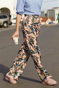 Printed Slouch Trousers
