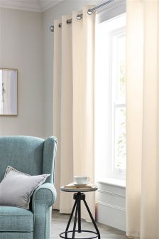 Matt Velvet Eyelet Curtains
