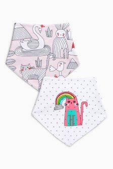 Cat Dribble Bibs Two Pack