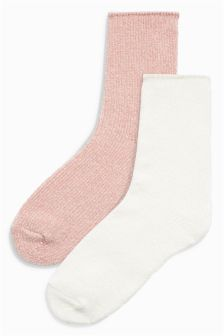 Chenille Bed Socks Two Pack