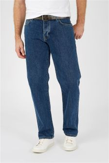 mens loose fit jeans stretch amp belted baggy jeans next uk
