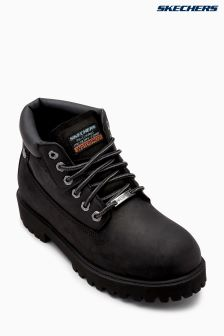 Skechers Black Waterproof Padded Collar Boot