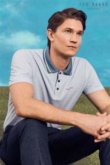 Ted Baker Light Blue Geo Print Polo