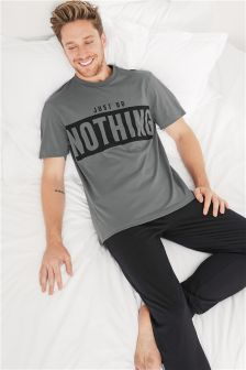 Just Do Nothing Jersey Cuffed Pyjamas Set