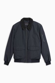 Borg Collar Flight Jacket