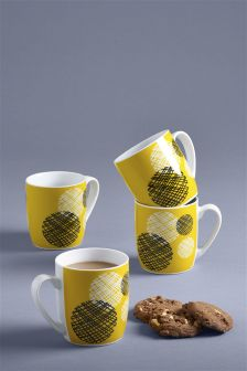 Set of 4 Pendle Mugs