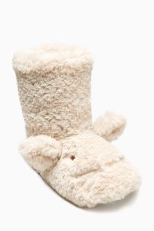 Bunny Ears Slipper Boots (Older Girls)