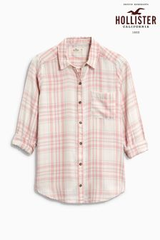 Hollister Pink Check Shirt