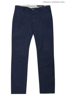 French Connection Blue Gun Stretch Trouser