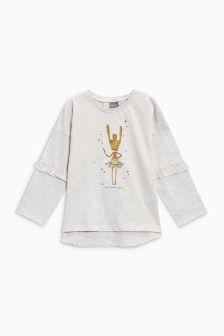 Frill Sleeve T-Shirt (3mths-6yrs)