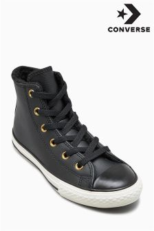 Converse Black Lined Hi Top