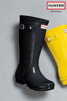 Hunter Original Star Black Wellington Boot