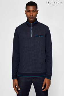 Ted Baker Hownd 1/4 Zip Knit Jumper