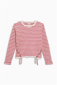 Stripe Tie Sweater (3-16yrs)