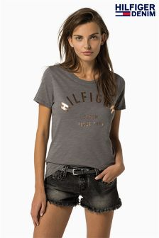 Tommy Hilfiger Grey Basic Graphic T-Shirt