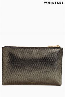 Whistles Pewter Clutch Bag