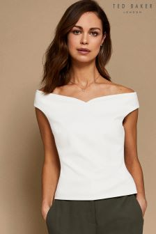 Ted Baker Byria Cream Bardot Top
