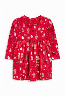 Christmas All Over Print Tunic (3mths-6yrs)