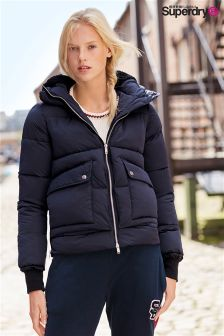 Exclusive to Label Superdry Navy Lux Duvet Coat