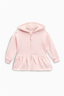 Zip Through Peplum Hoody (3mths-6yrs)