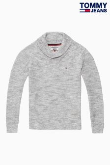 Tommy Jeans Grey Pullover Sweatshirt