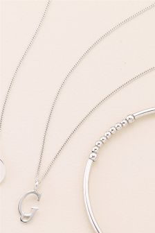 Italic Initial Necklace