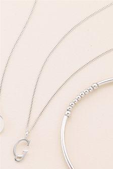 Italic Initial Necklace
